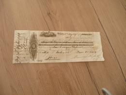 Chèque Illustré  Reçu Exchange Cuba Cubana La Havane Havana 1829 - Chèques & Chèques De Voyage