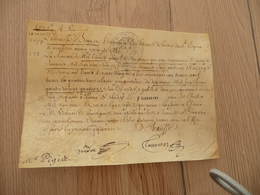 Pièce Signée Louis Bausse Hérault D'Armes Du Roi Louis IV, Ordre De Saint Louis 10/03/1694 In 8 Reçu - Autógrafos