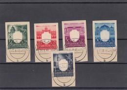 GG Generalgouvernement MiNr. 105-109 Gestempelt, Krakau - Besetzungen 1938-45