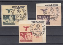 GG Generalgouvernement MiNr. 56-58, Gestempelt Eckrand Sonderstempel - Besetzungen 1938-45