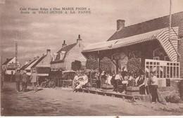 """De Panne , La Panne ;  Café Franco-Belge """" Chez Marie Picon """" Route De Bray-Dunes à La Panne (De Gryse , Rosendael - De Panne"""