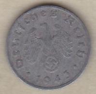1 Reichspfennig 1943 G (KARLSRUHE) En Zinc - [ 4] 1933-1945 : Tercer Reich