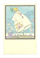 "Illustrateur "" KOEHLER MELA  "" Femme , Plage, Mer, Mouettes,....1927 Art Déco (b248) - Koehler, Mela"