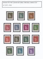 ANDORRE FRANÇAIS - Collection Thème Blasons - Armoiries, Dont Série 1937/1943 - Collections