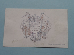 LE BAILLI MARITIME DU PORT DE GAND ( Porcelein / Porcelaine ) Formaat +/- 9 X 5,5 Cm.! - Cartes De Visite