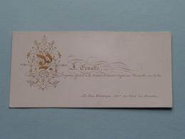 ERNOTTE Inspecteur Gén. Concorde Cie Rue Botanique 52 BRUXELLES ( Porcelein / Porcelaine ) Formaat +/- 9 X 4,5 Cm.! - Cartes De Visite
