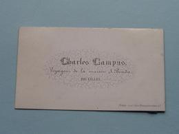 Charles CAMPUS Voyageur De La Maison BENDA à BRUXELLES ( Porcelein / Porcelaine ) Formaat +/- 8,5 X 4,5 Cm.! - Cartes De Visite