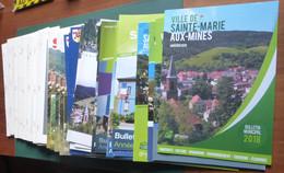 SAINTE MARIE AUX MINES, 34 Bulletins Municipaux, - Alsace