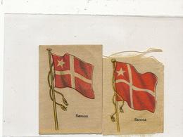 3 Silk Flag Size 5 By 7 Cms . Advert For Siboney Cigars Cuba . Circa 1910 - Samoa