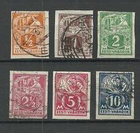 FAUX Estland Estonia 1922/24 = 6 Stamps From Set Michel 32 - 39 B Fälschungen Forgeries FAKE O - Estland