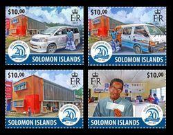 Solomon Islands 2017 Mih. 4746/49 Solomon Post. Cars. Post Offise MNH ** - Salomon (Iles 1978-...)