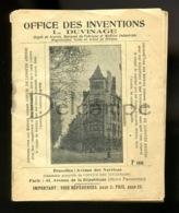 Piece D Antan - L Office Des Inventions L. Duvinage - Explicatifs Sur Depots De Brevets - Marques - Machines