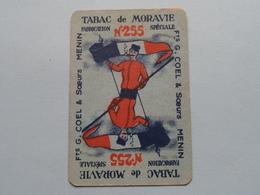 Fts G. COEL & Soeurs MENIN ( TABAC De MORAVIE - N° 255 ) Klaveren Heer ( Zie Foto's Voor En Achter ) ! - Cartes à Jouer Classiques