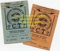 Piece D Antan - Cartes CGT De Dieppe  - 1960 Et 1961 - Ports Et Docks - Autres