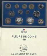 Francia France 1988 Coffret Serie Fleurs De Coins Monnaie De Paris  Fdc - Francia