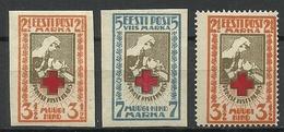 Estland Estonia 1921/22 Michel 29 - 30 B & 29 A * - Estonia