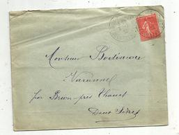 Lettre , 1932 , BRION-PRES-THOUET , Deux Sèvres , 2 SCANS - Marcofilie (Brieven)