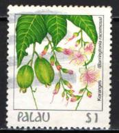 PALAU - 1987 - FIORE INDIGENO - USATO - Palau