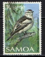 SAMOA - 1988 - UCCELLO - BIRD - LALAGE MACULOSA - USATO - Samoa