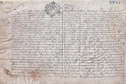 Rare Acte Notarial Datée Du 25 Mai 1740 - Collections
