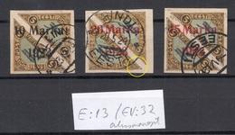 Estland Estonia 1923 Michel 43 - 45 O Incl ERROR Abart E: 13 / EV: 32 Signed K. Kokk NB! - Estland
