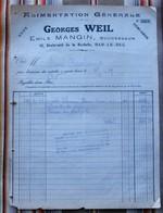 55 BAR LE DUC E. Mangin Alimentation Generale G. Weil Pour Rarecourt - Alimentaire