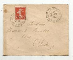 Lettre , 1916 , LOURDOUEIX-ST MICHEL ,Indre , CLUIS , 3 SCANS - 1877-1920: Période Semi Moderne