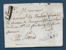 Ariège - P. 8 P. / PAMIERS  Sur Lettre De 1814 - Storia Postale