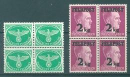 FELDPOST - MNH/**  -1944 - HITLER AIGLE- Mi 3 4  -  Lot 19029 BLOC OF 4 STAMPS - Alemania