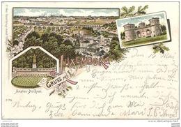 LUXEMBOURG ..-- Gruss Aus ... Précurseur . 1899 Vers ROODT , GREVENMACHER ??  Voir Verso . - Luxemburg - Stadt