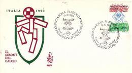 Fdc Venetia 1989 : MONDIALI CALCIO. - No Viaggiata; AS_Roma - 6. 1946-.. Repubblica