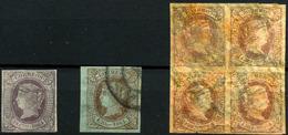 España Nº 64, 66, 67. Año 1864 - Oblitérés