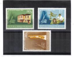 ALB252  ALBANIEN 1987  MICHL  2327/29 ** Postfrisch SIEHE ABBILDUNG - Albanien