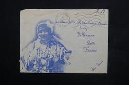 ALGÉRIE - Enveloppe Illustrée ( Femme ) En FM En 1958 Pour La France - L 23777 - Briefe U. Dokumente