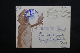 ALGÉRIE - Enveloppe Illustrée (Dresseur De Faucons ) En FM En 1957 Pour La France - L 23778 - Briefe U. Dokumente