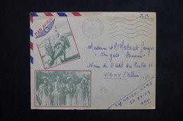 ALGÉRIE - Enveloppe Illustrée ( Scènes Et Types D 'Algérie ) En FM En 1957 Pour La France - L 23779 - Briefe U. Dokumente