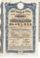 75-CREDIT FONCIER DE FRANCE. 1912. Oblig 250 F - Actions & Titres
