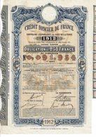 75-CREDIT FONCIER DE FRANCE. 1912. Oblig 250 F - Other