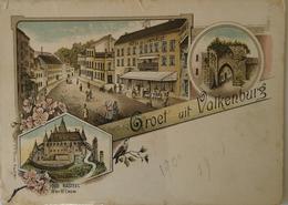 Valkenburg // Litho - Groet Uit Ca 1899 Kaart Iets Sleets - Valkenburg