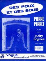 PARTITION PIERRE PERRET / JACKY NOGUEZ - DES POUX ET DES SOUS - VOGUE - 1966 - EXC ETAT - Music & Instruments