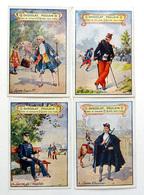 4 CHROMOS CHOCOLAT POULAIN......CANNE .....DE L'OFFICIER...LOUIS XV.....   D'HUISSIER.....DE L'INVALIDE - Altri
