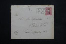 """ALLEMAGNE - Oblitération Ambulant """" Rotenburg / Hannover """" Sur Enveloppe Illustré Au Verso Pour Berlin - L 23781 - Covers & Documents"""