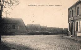 CPA  - 59 - COURCHELETTES -  Les Maisons Provisoires - Estaminet - Franchise Militaire - France