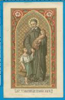 Holycard    St. Vincentus A Paulo - Devotion Images