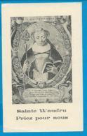 Holycard    St. Waudru   Mons - Imágenes Religiosas