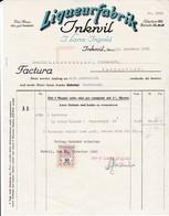 Rechnung Liqueurfabrik Inkwil, J. Lanz-Ingold, 1930, Mit Fiskalmarke - Suisse