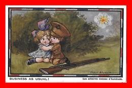 CPSM/pf  MILTARIA Humoristique. Illustrateur F. SPURGIN.  Les Affaires Comme D'habitude...CO2173 - Humorísticas
