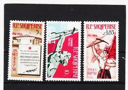 OST1491 ALBANIEN 1966  MICHL 1121/23 Gestempelter SATZ SIEHE ABBILDUNG - Albanien