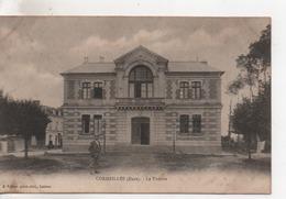.CPA.27.Cormeilles.Le Théâtre.animé Un Personnages - Frankreich