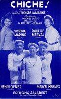 CHICHE DU FILM 3 DE LA MARINE / JEAN CARMET / HENRI GENES / MARCEL MERKES / P. NERVA L / V. MARINO - 1957 - EXC ETAT - Filmmusik